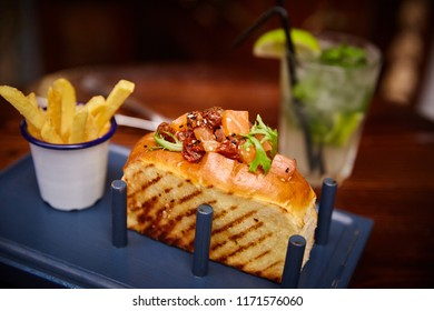 Toast with Fries