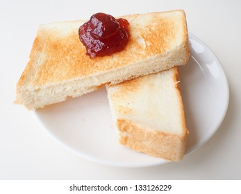 toast with fruit jelly