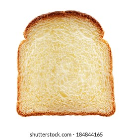 Toast isolated. Bread slice on white background