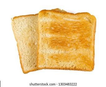 toast isolated on white