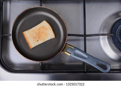 toast on a hot pan