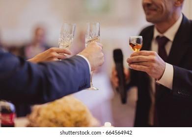 Toast at the wedding