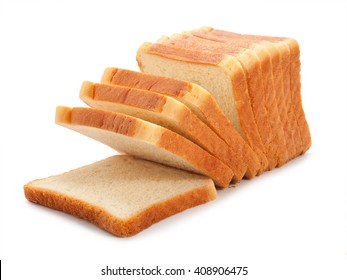 toast wheat bread sliced isolated on white background.