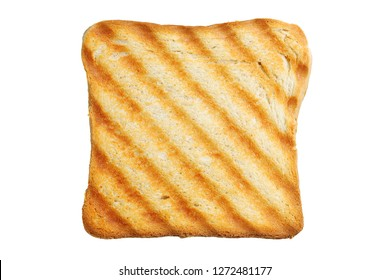 toasted bread slice isolated on white