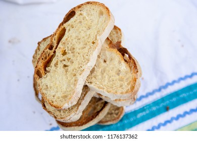Toasted ciabatta bread slices