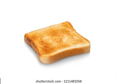 Toasted slice white toast bread white isolated
