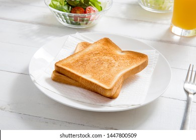 Toasted toast, breakfast at home