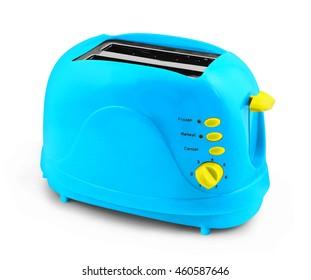 Toaster isolated on white background, toast maker.