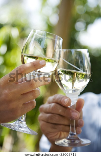 toasting in the garden