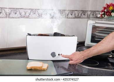Toasting sandwich bread slices gone wrong