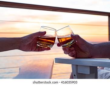 Toasting whiskey