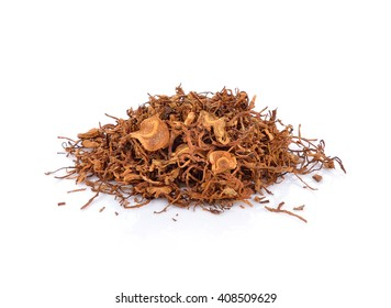 Tobacco pile and cigarette