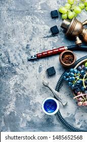 Tobacco shisha with grapes flavor.Nargile with grapes.Turkish fruit hookah tobacco