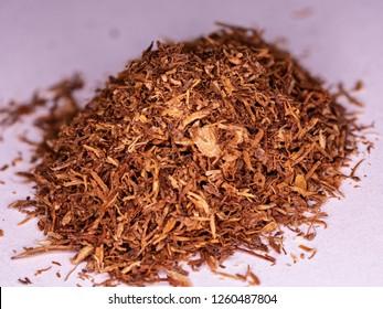 tobacco texture high qualitydry cut tobacco big leaf macro close up