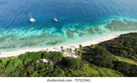 Tobago Cays in Saint-Vincent and the Grenadines sky view