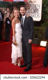 Tobey Maguire and Jennifer Meyer-Maguire at the 67th Annual Golden Globe Awards, Beverly Hilton Hotel, Beverly Hills, CA. 01-17-10