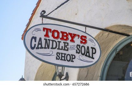 Tobys Candle and Soap shop in San Diego Old Town - SAN DIEGO / CALIFORNIA - APRIL 21, 2017