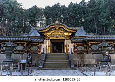 TOCHIGI, JAPAN - NOVEMBER 15, 2018: Day scene of Taiyuin temple at Nikko, Tochigi Prefecture, Japan
