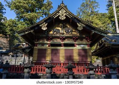 TOCHIGI, JAPAN - NOVEMBER 15, 2018: Day scene of Toshogu Shrine at Nikko, Tochigi Prefecture, Japan