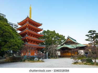 Tochoji Temple in Hakata, Fukuoka, Japan.
