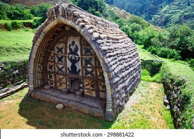 Toda  house of worship. This is a tribal  worship house in toda settlement,Ooty, Tamilnadu