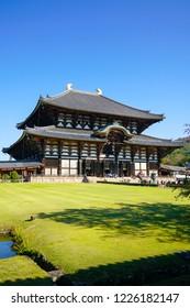 Todaiji temple in Nara Japan
