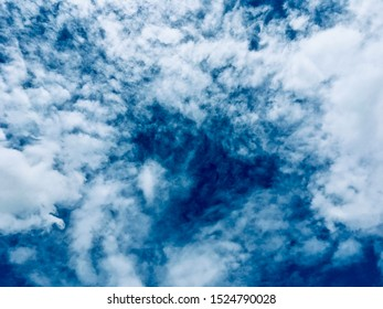 Today is cloudy in the dark blue sky. The weather forecast