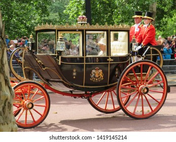 Today we saw HRH Prince of Wales and Camilla, Duchess if Cornwall with The Duke and Duchess of Sussex joined other Royal Family Members to celebrate Her Majesty The Queen Official Birthday. London.