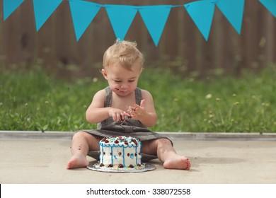 Toddler boy and Cake Smash