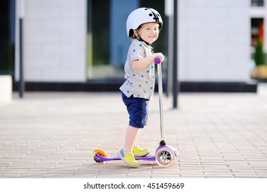 Toddler On Scooter Images Stock Photos Vectors Shutterstock