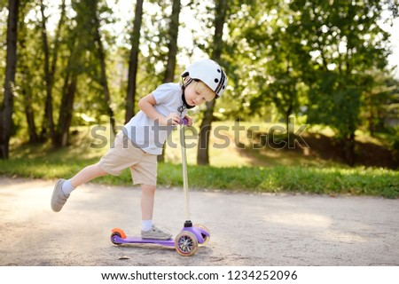 Toddler Boy Safety Helmet Learning Ride Stock Photo Edit Now