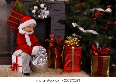 toddler Santa Claus
