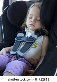 Toddler Sleeping in a Car Seat