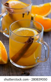 Toddy with orange and ginger