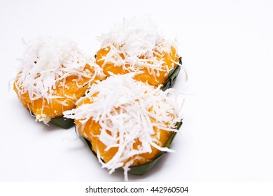 Toddy palm cake on white background,baked