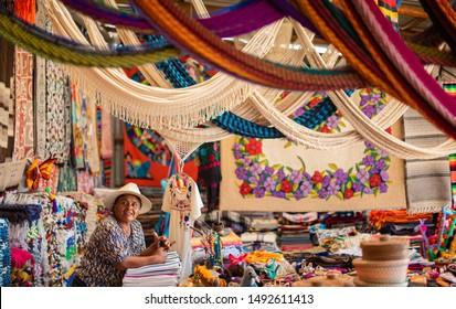 Todos Santos, Baja California / Mexico - Mar 2019 Mexican handcraft and folk art mexican craftsman artisan concept, ilustrative