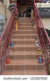 Todos Santos Baja California Sur/MEXICO. Jul-27-2017: Souvenirs stores for locals and tourists on the streets of todos santos (Pueblo Magico, means magic Town)
