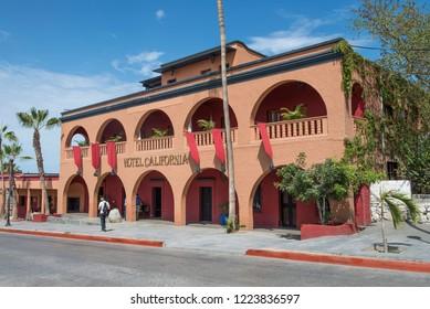 Todos Santos Baja California Sur/MEXICO. Jul-27-2017: Besides the todos santos mission we can find the famous Hotel California