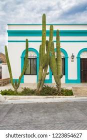 Todos Santos Baja California Sur/MEXICO. Jul-27-2017:Walking on the streets of Pueblo Magico (Magic Town) Todos Santos. MEXICO