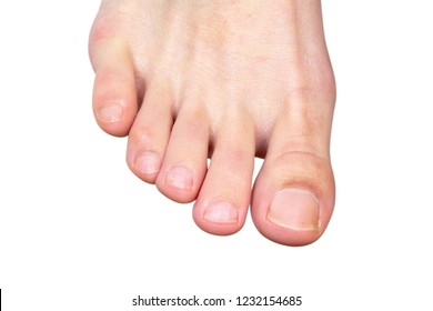toe foot girl isolated on white background.
