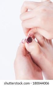 toenail painting practice