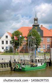 Toenning on Eiderstedt peninsula in North Frisia,Schleswig-Holstein,Germany