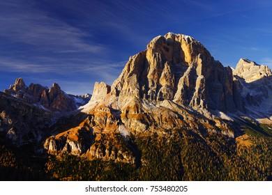 Tofana di Rozes in the Dolomites, Italy, Europe