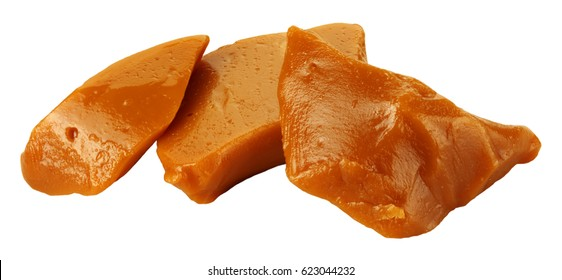 TOFFEE CHUNKS OR PIECES ON WHITE