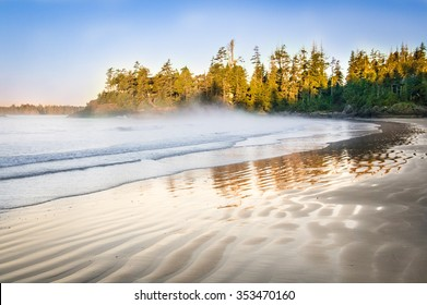 Tofino beach at Vancouver island
