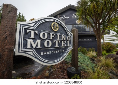 Tofino, British Columbia, Canada September 22, 2019 - Tofino Motel Harbourview is located in the unique Pacific Northwest town of Tofino overlooking the beautiful Clayoquot Sound Ocean Inlet & Harbour