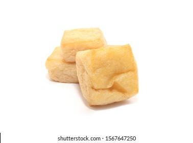 Tofu Puff isolated on white background