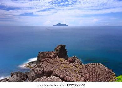 Tofu rock terrain at Northeast coast of Taiwan (New Taipei City and Yilan) National Scenic Area.
