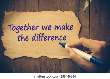 Together we make the difference concept