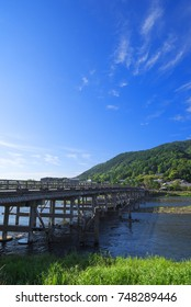 "The Togetsukyo Bridge, Kyoto, Japan. ""Togetsukyo"" means ""Moon-Crossing Bridge""."